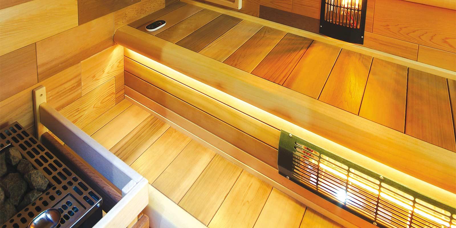 Kombinovaná sauna od Wellness Vision