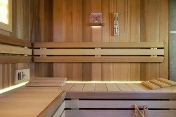 Sauna s ochlazovací sprchou