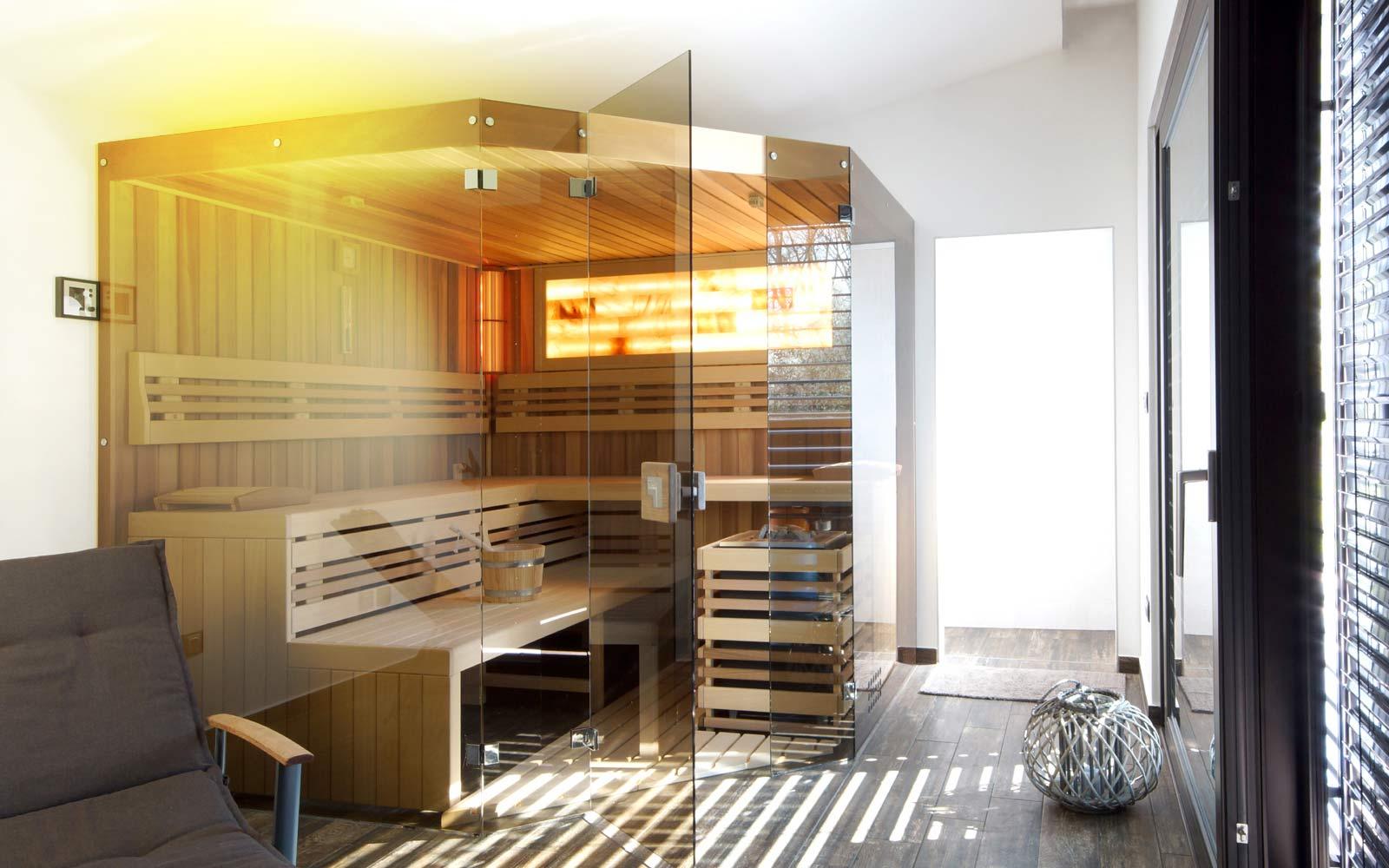 Prosklená sauna Native