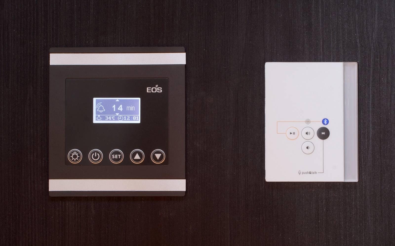 Naše novinka - infrasauna Sunrise/Sunset - regulace EOS Infratec Premium