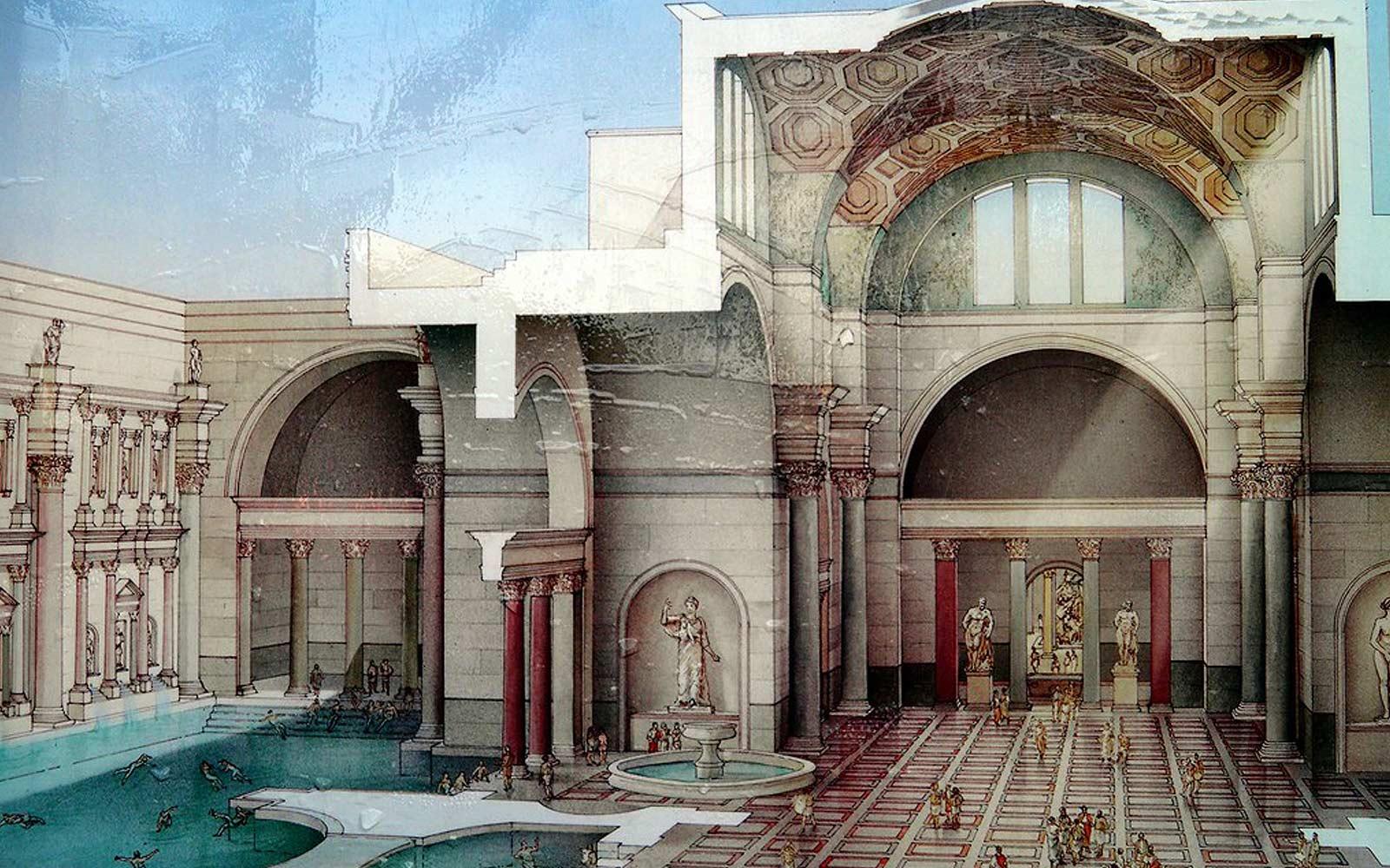 původní staré římské lázně