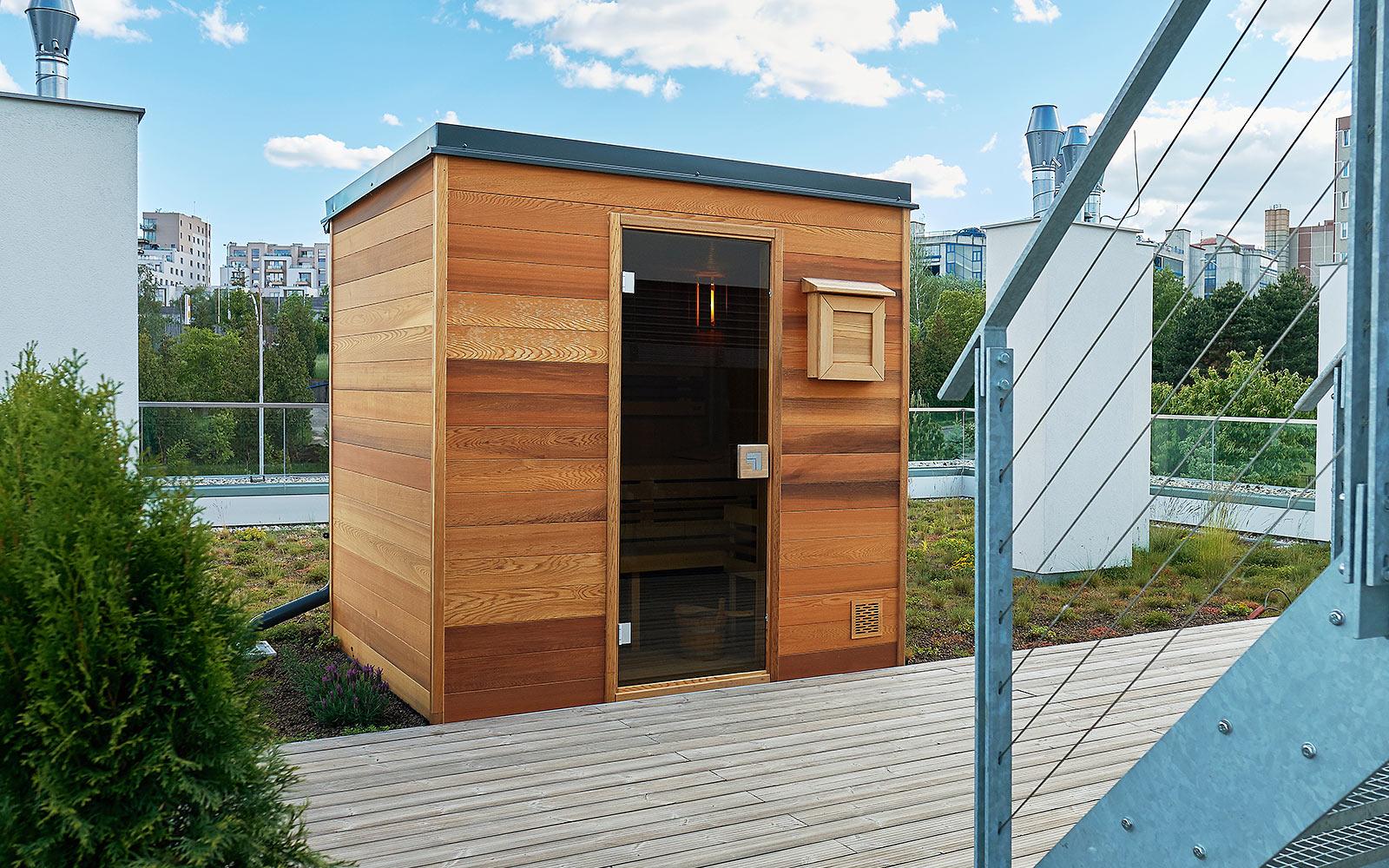 Venkovní sauna bude na vaší zahradě krásná